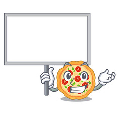 Bring board margherita pizza in a cartoon oven vector