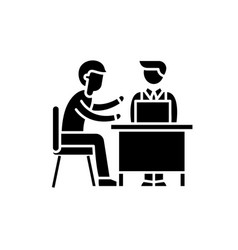 business consulting black icon sign on vector image