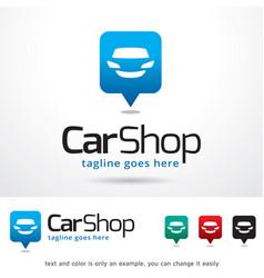 car shop logo template vector image