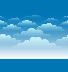 Cartoon cloudy sky horizontal seamless background vector