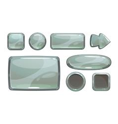 Cartoon silver game assets vector