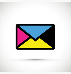 Cmyk envelope vector