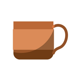 colorful silhouette of coffee cup without contour vector image