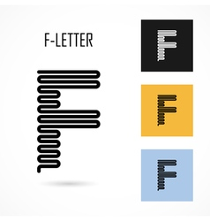 Creative F - letter icon abstract logo design vector
