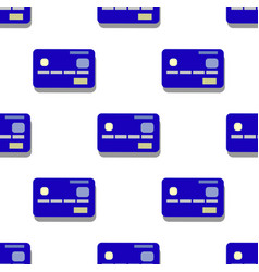 Credit card pattern simple of credit vector