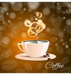 cup coffe brown aroma espresso cafe vector image