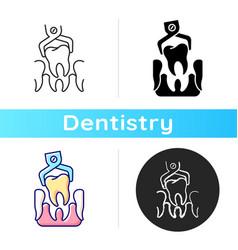 Dental surgery icon vector