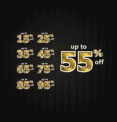 Discount up to 55 off label price gold set vector