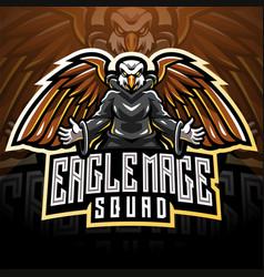 eagle magic esport mascot logo vector image