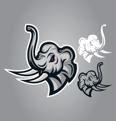 Elephant head sing logo vector