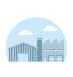 Factory and warehouse vector