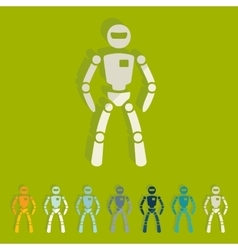 Flat design robot vector