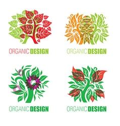 floral logo set 2 vector image