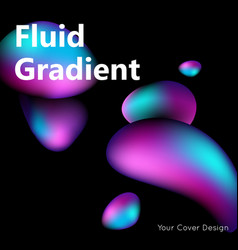Fluid gradient liquid oil background vector