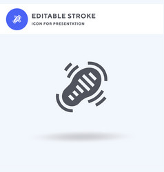 footstep icon filled flat sign solid vector image
