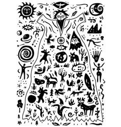 Forest spirit nature animals fairytale vector