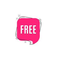 free symbol special offer sign vector image