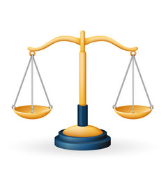 golden justice scales law equality balance measure vector image