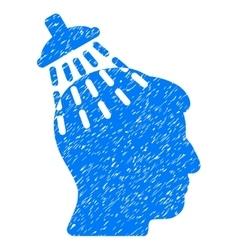 Head Shower Grainy Texture Icon vector image