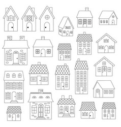 House digital stamps vector