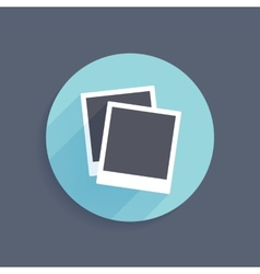 icon two instant photo frames in flat style vector image
