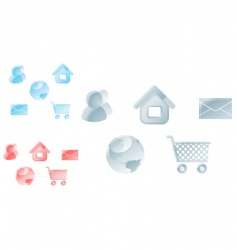 icons for web design vector image