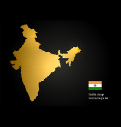 India country map gold texture design image vector