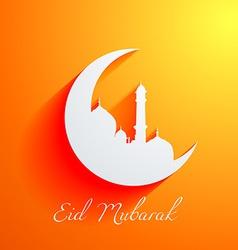 islamic mosque design vector image