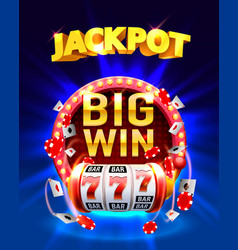 Jackpot big win vector