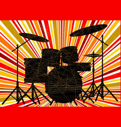 jazz drum kit vector image