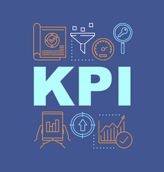 Kpi word concepts banner key performance vector