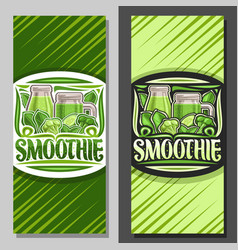 Layouts for green smoothie vector