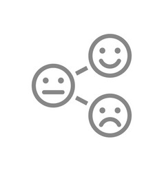 Level satisfaction line icon range to assess vector