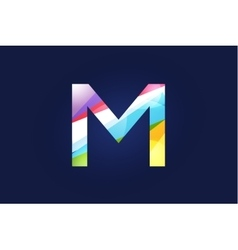 M letter logo icon symbol vector image