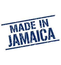 made in jamaica stamp vector image