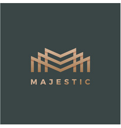 majestic abstract geometry minimal sign vector image