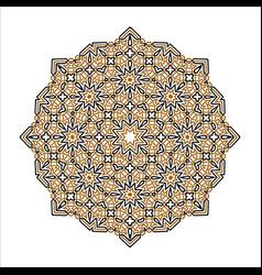 mandala ornament background round vintage vector image