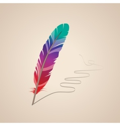 Many-coloured feather vector