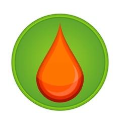 medic symbol blood drop red color vector image