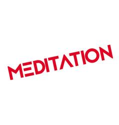 Meditation rubber stamp vector