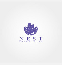 Nest logo template logo element vector