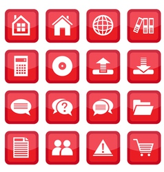 Office set icons vector
