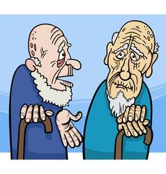 old men cartoon vector image