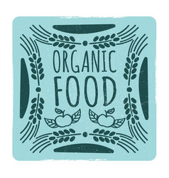 organic food vintage banner vector image
