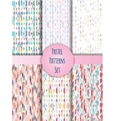 Pastel patterns set vector