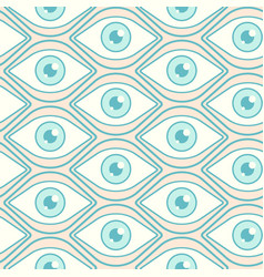 Pattern with open eyes vector