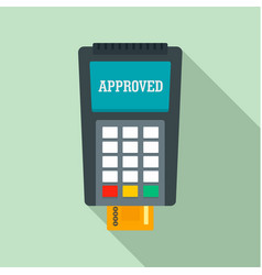 payment approved credit card icon flat style vector image