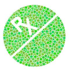 Pharmacy tablet mosaic of circles vector