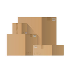 pile cardboard boxes vector image