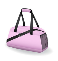 pink black sport bag for sportswear and equipment vector image